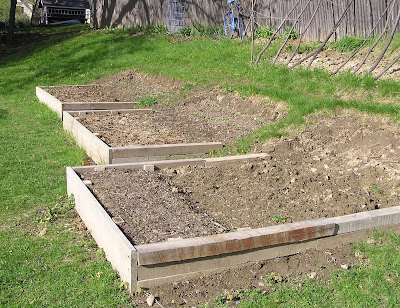 Terraced Garden With Raised Beds
