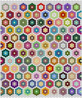 Grandmother's Flower Garden quilt in EQ5