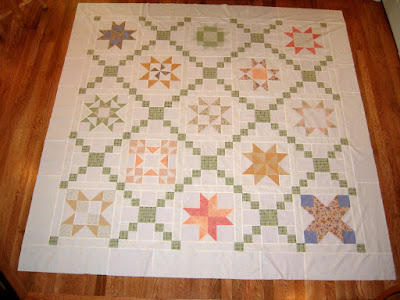 Star Quilt Along top