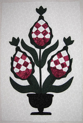 Grandma's Country Album II block Patchwork Pineapple