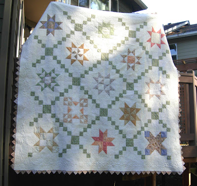 completed quilt front side