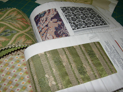 paper-backed fabric samples