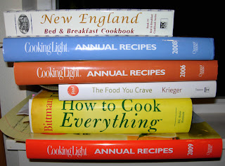 pile of cookbook sources