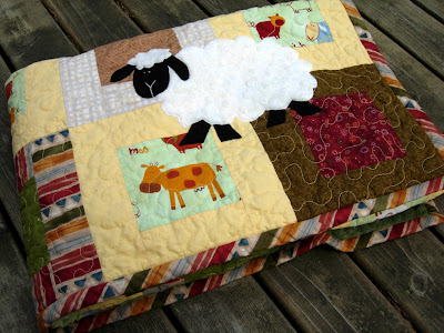 Little Sheep Quilt nice and folded