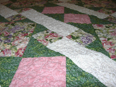 Strawberry Fields, quilting detail