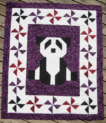 Purple Patchwork Panda top