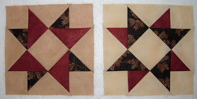 Moda Greenpiece pieced block 3