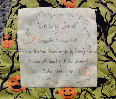 Crazy Jack label