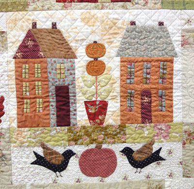 Autumn House quilted center block