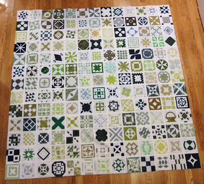 the completed center of my Jane Stickle quilt
