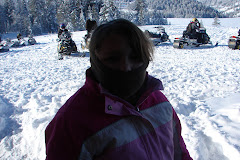 Rylee going snowmobiling