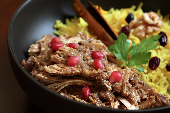 Fesenjan: Persian Pomegranate Walnut Chicken Stew - SheSimmers