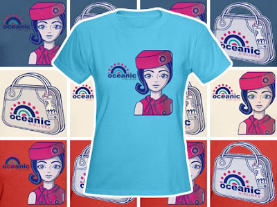 Lost t-shirts - Oceanic Airlines Stewardess tee