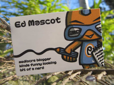 Kawaii business cards for Ed Mascot!