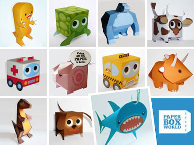 Free paper toys at Paper Box World!