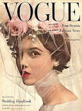 Portada Vogue vintage Novia con tocado flores