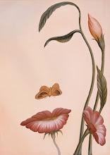 Imagen óptica Vintage cara de mujer con flores