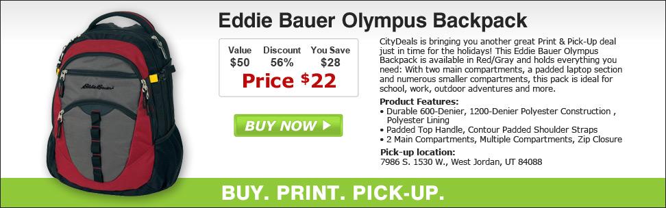 5fd9772529b9 Eddie Bauer Olympus Backpack