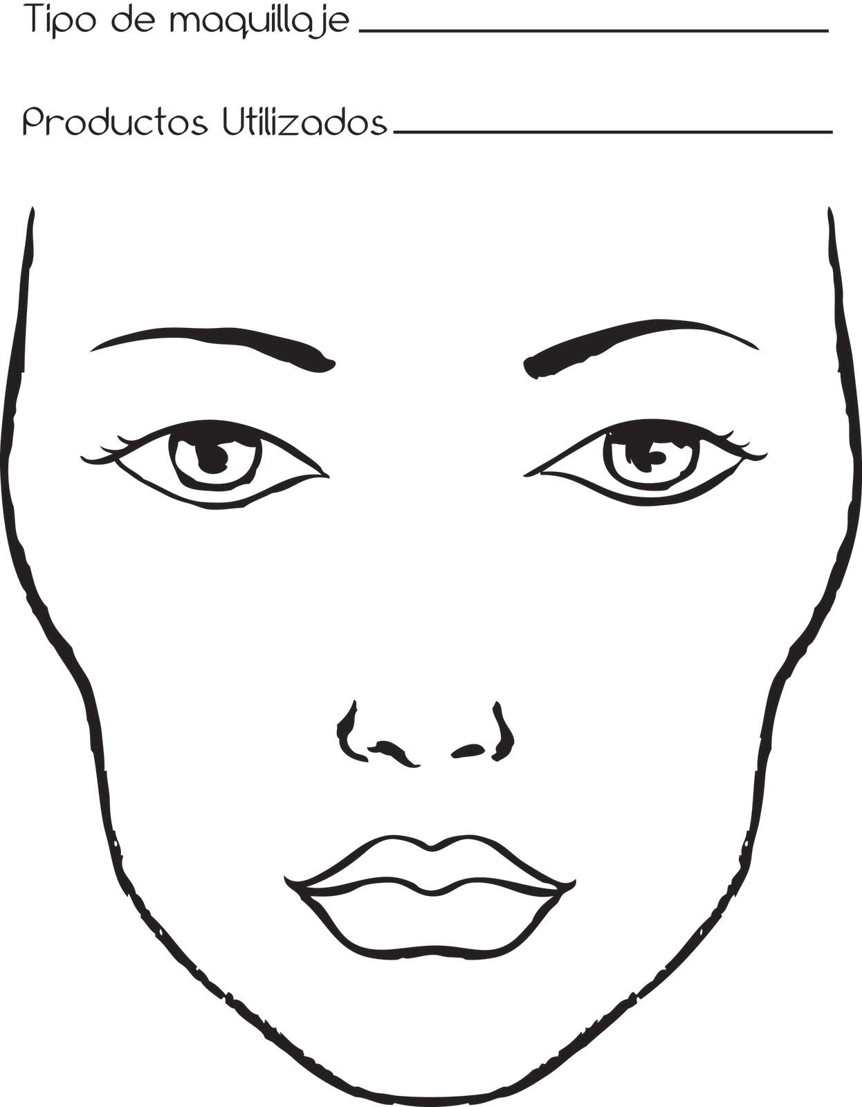 Dibujos de rostros para maquillar - Imagui