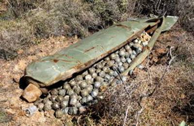 Cluster Bombs in Casing