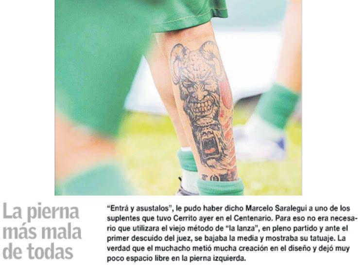 uruguay tatuajes. Esto salió publicado en uno de los diarios más leídos del Uruguay,