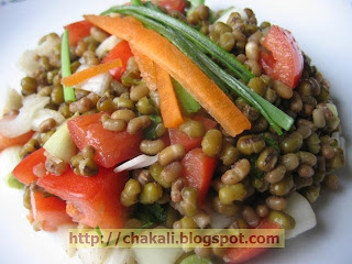 matki recipe, matki salad, salad recipe, recipe for salad, salad recipes, sprouted moong salad, sprout salad, moong salad, moong matki salad