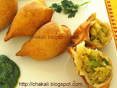 Punjabi Samosa, Indian snack, Indian Appetizer, Samosa chaat, samosas, samosa dipping sauce