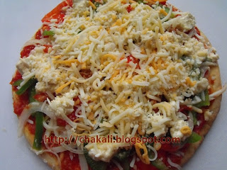 Pizza toppings, thin crust pizza, four cheese pizza