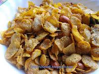 corn flakes chiwda, maka chiwda, diwali faral