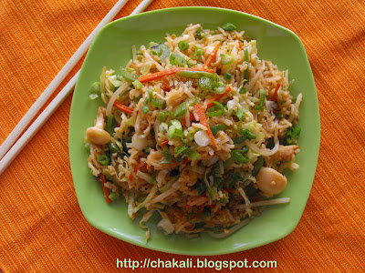 veg fried rice, indo-chinese fried rice recipe, how to make fried rice at home