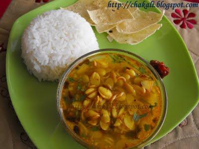 dalimbi amti, dalimbyanchi amati, maharashtrian amti recipe, valachi amti