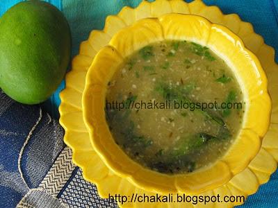 green mango soup, raw mango soup, kairiche saar, kairiche sar