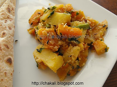 potato bhopla bhaji, fasting recipes, Indian fasting