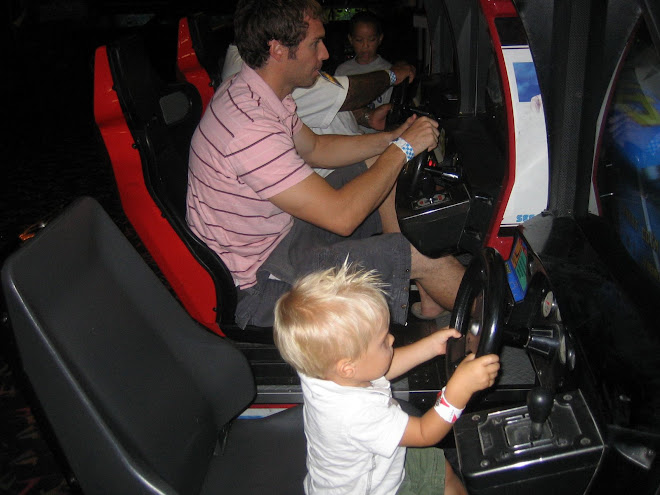 Racing cars with daddy
