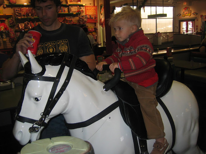 Riding the horse with Dad