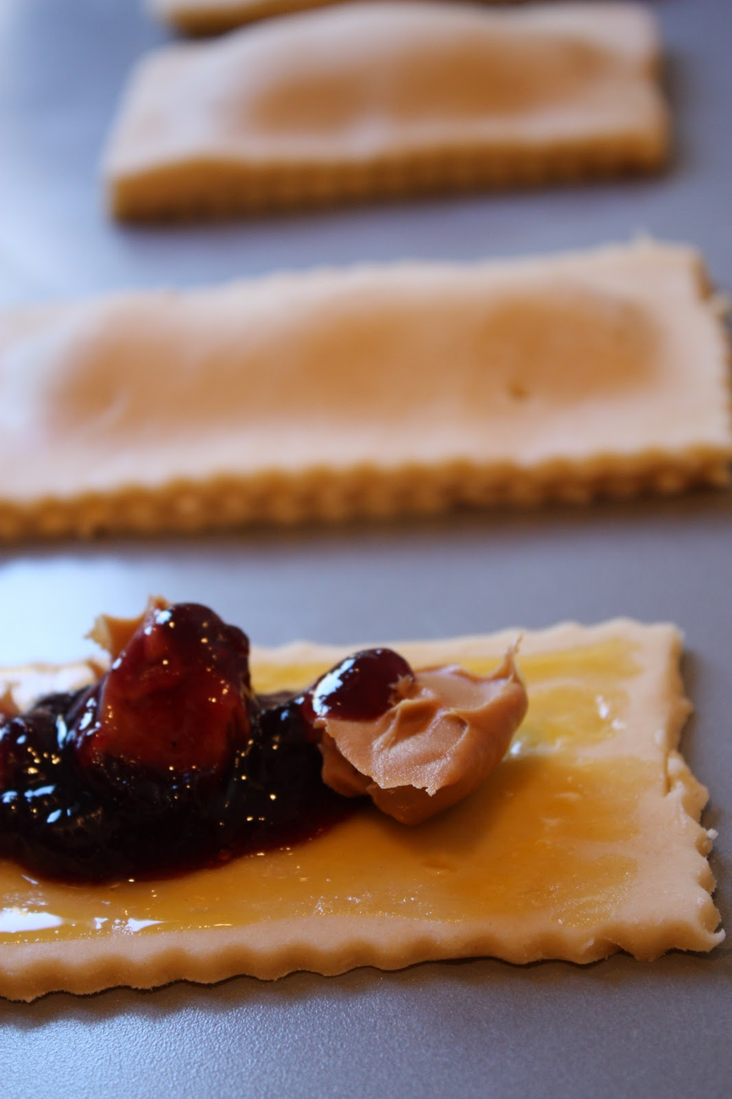 Homemade Peanut Butter and Jelly Pop Tarts