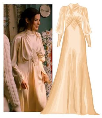 Sandra Bullock Wedding Dress