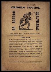 Cartaz a procura de escravo