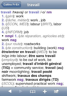 Collins French Dictionary IPA App Version 3.02