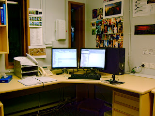 My work space, June 2007
