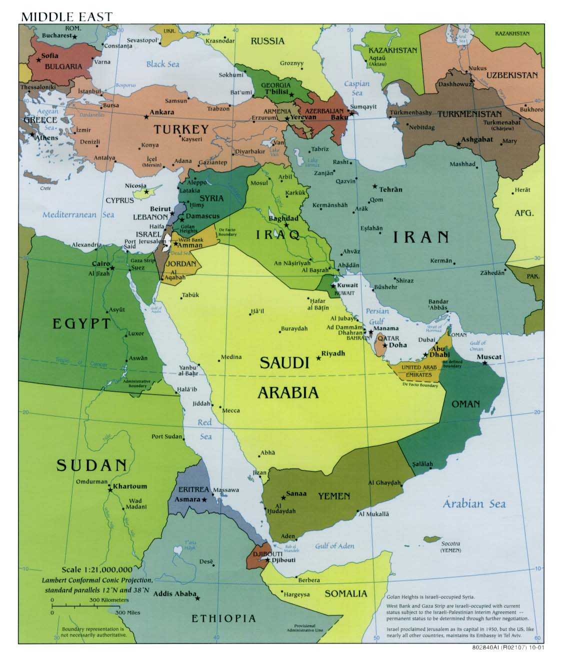 West Asia Middle East Map