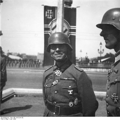 German General Erwin Rommel, whose Seventh Panzer Division broke the French front at Sedan.  Rommel would go on to fame as the Desert Fox.