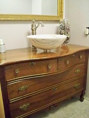 Of Things Past Repurposing Furniture Into Bathroom Vanities
