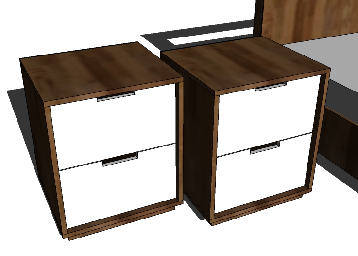 Ana white modern nightstands plans diy projects for Simple nightstand designs