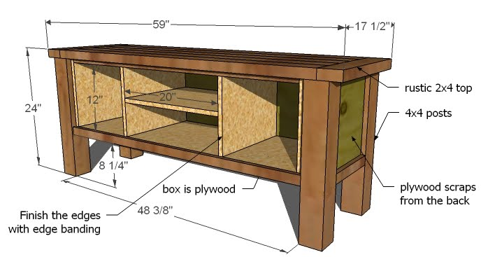 Woodwork woodworking plans media console pdf plans - Media consoles for small spaces plan ...