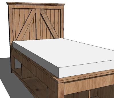 ana white  brookstone twin headboard  diy projects, Headboard designs