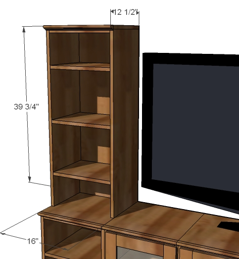 Ana white bookshelf hutch for basic collection diy for Building a bookcase for beginners