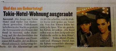 Publicaciones alemanas se hacen eco del robo a Tokio Hotel Bzzeitungberlin03092688