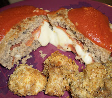 Pizza Burger & Mushroom caps