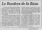 Heráldica en la Argentina: Bandera de la Raza raza